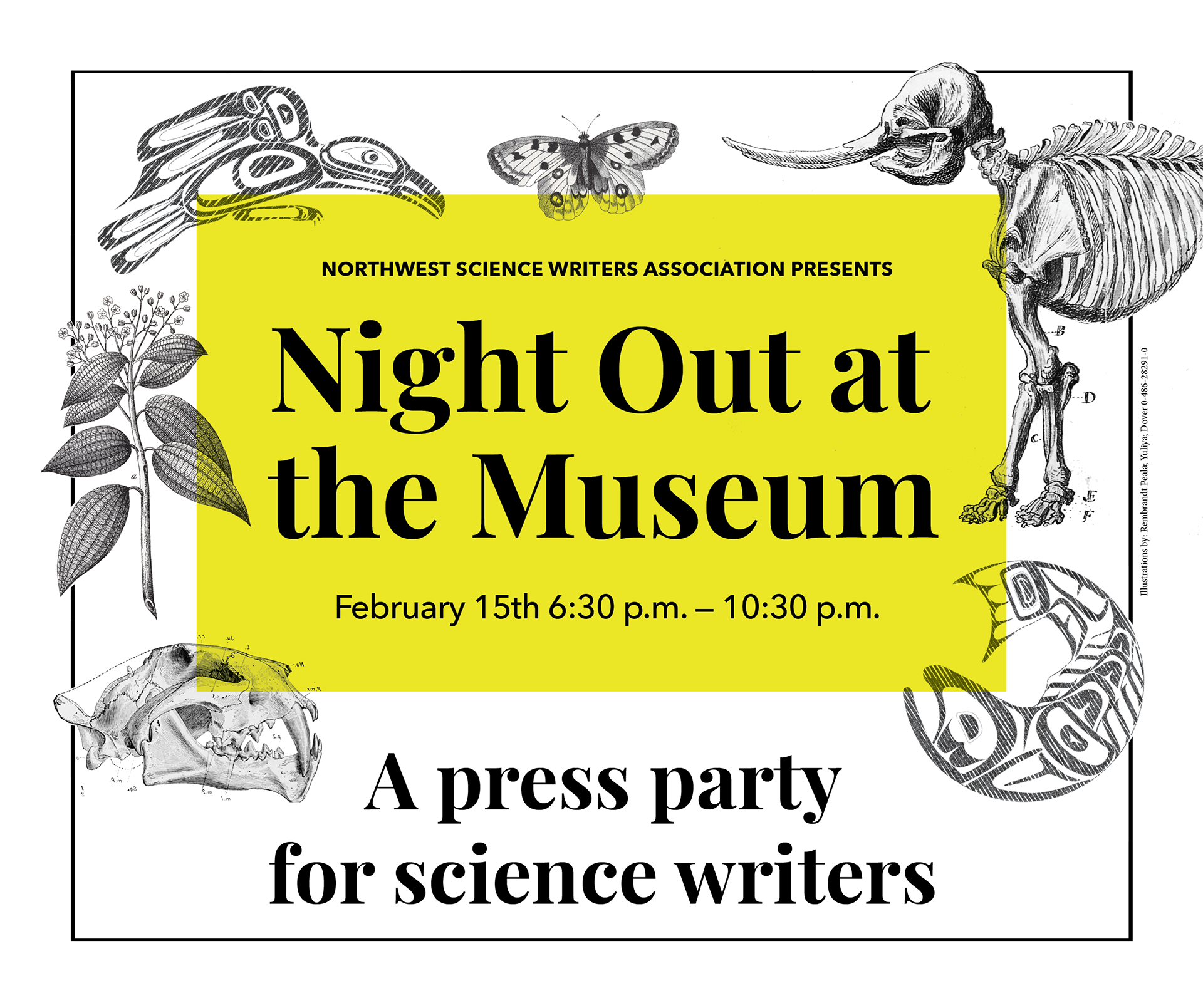 NSWA presents Night Out at the Museum, a press party for science writers