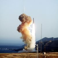photo of a Minuteman III missile launch
