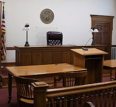 photo of empty courtroom