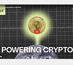 screenshot of YouTube video titled Powering Crypto