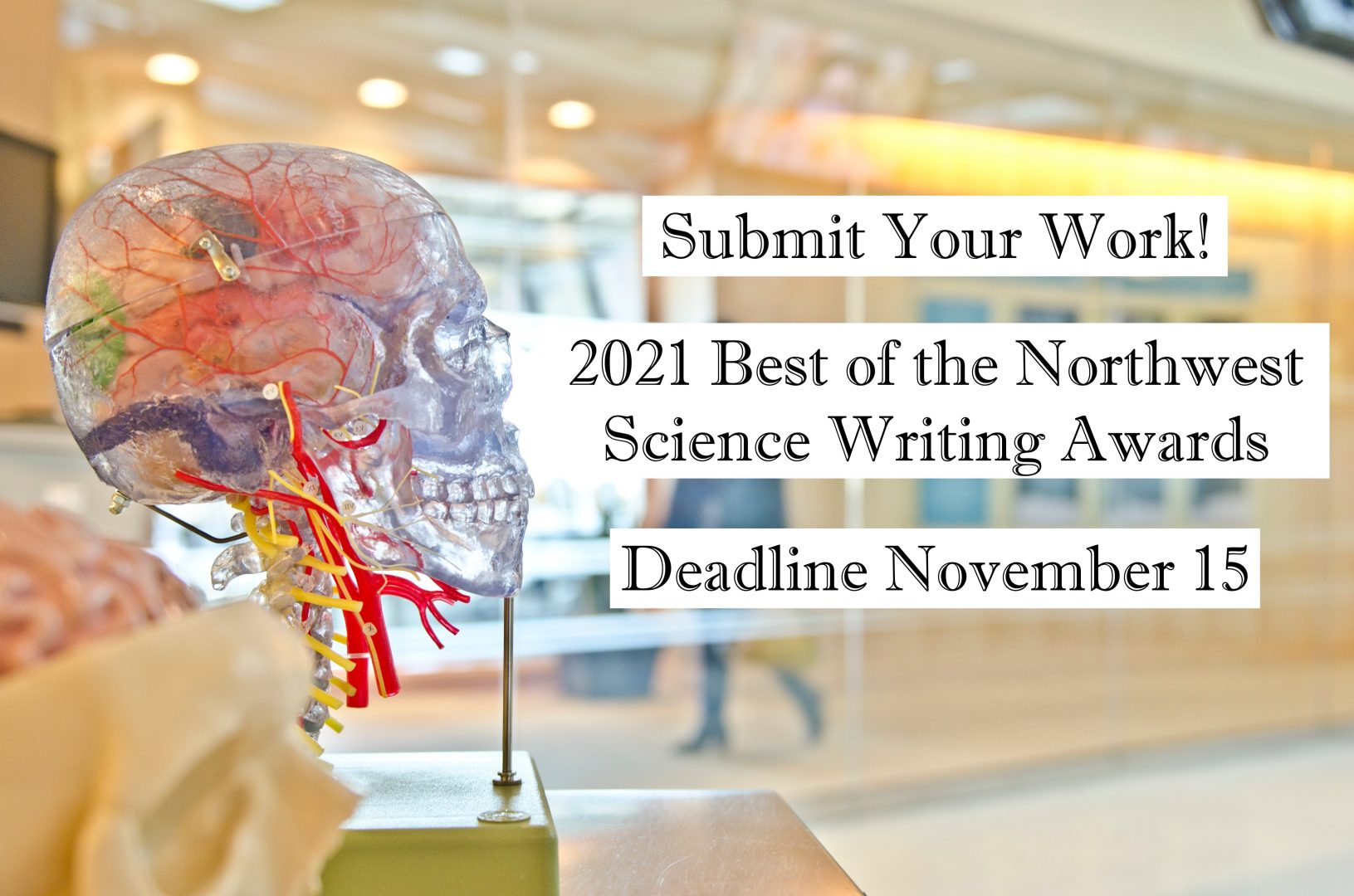 Submit Your Work! 2021 Best of the Northwest Science Writing Awards, Deadline November 15